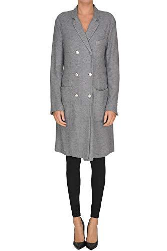 Barena Venezia Double Breasted Coat Woman Grey 42 IT -