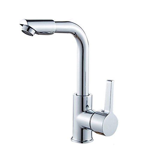 Pumpink Mélangeur de robinets en laiton de salle de bains 360 degrés facile de lavage de pivot pour l'évier de bassin et le robinet de cuisine