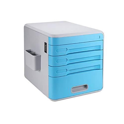 Bxwjg Passwortsperre Desktop aktenschrank, datei aufbewahrungsbox, die Kunststoff dateistruktur Schublade aktenschrank datei Box-4 Schichten (Color : B1) -