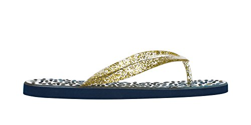 Flopz Tongs Caprice Gold Glitter Straps