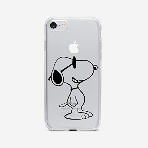 licaso iPhone 6 6s Handyhülle TPU mit Sunny Dog Print Motiv - Transparent Cover Schutz Hülle H& Sommer Aufdruck Druck