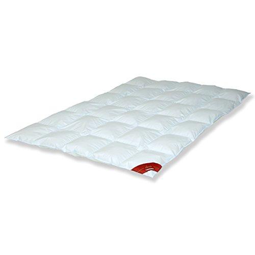 Traumschloss Classic Universal Daunenbett Bettdecke Perl 135 x 200 cm