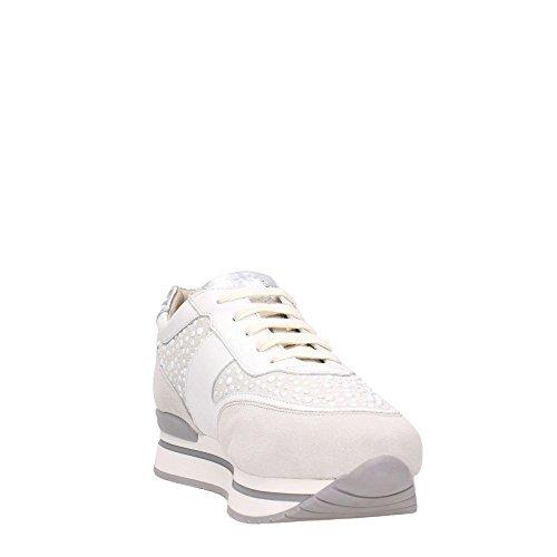 Janet Sport 35728 Sneakers Femme Blanc / Argent