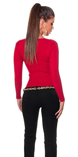 In-Stylefashion - Sweat-shirt - Femme rouge Rot taille unique Rouge
