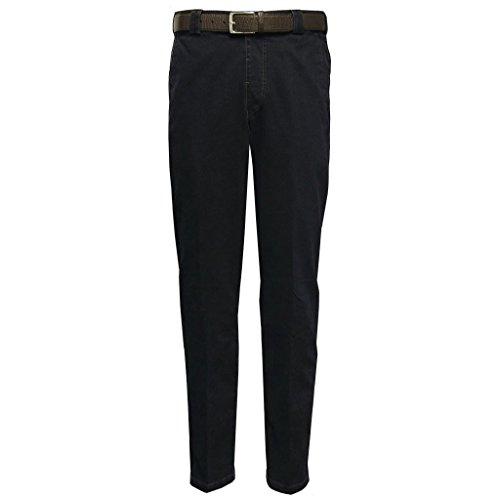 Meyer Stretch Core Spun Denim Trouser - Blue Black