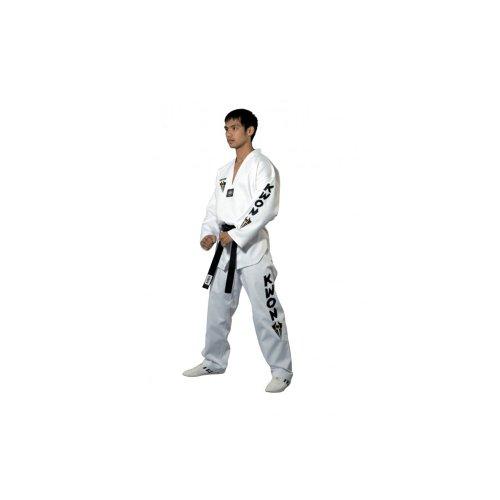 KWON® Taekwondo Anzug 1006 Starfighter Anzüge TKD weiß Rev. Größe 130