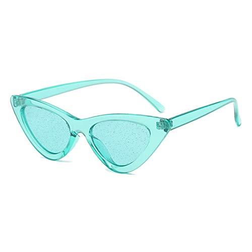 BUYAOAQ Klassische Frauen Augen Brillen Mode Männer Candy Farbe Flash Transparent Rot Gelb Grün Lila Brille Uv400