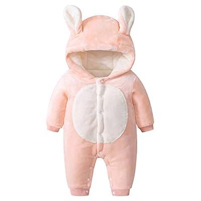 Bebé Niños Niñas Mono Vellón Mameluco con Capucha Manga Larga Peleles Invierno Pijama Infantil Traje de Dormir Recién Nacido Onesie