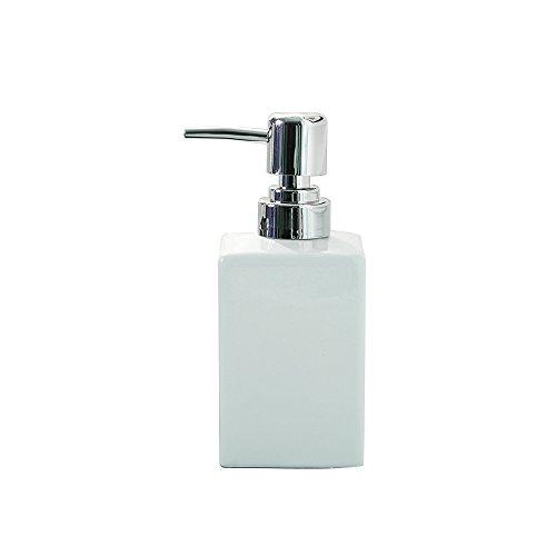 Dispensador de jabón bomba, handingsm cuadrada rellenable cerámica líquido Espuma dispensador de jabón para cocina, cuarto de baño