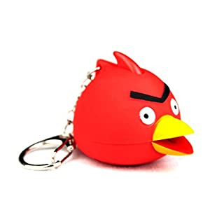 PK Green LED Angry Bird Keyring Torch with Light and Sound - LED Animal Key Chain by