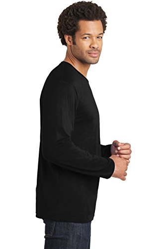 District Made – Lange Sleeve District Tee. DT105 Jet Black