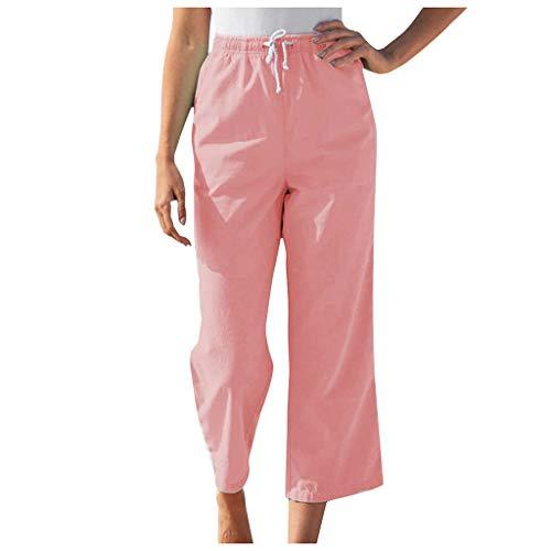 Graue Lounge-hose (cinnamou Sommer Hosen Damen Leicht Elegant Leinen Homewear Hosen Schöne Hosen Damen Lounge Lässige Hosen)