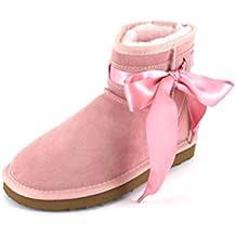 OOG Kinderboots rosa mit Lammfellfutter  