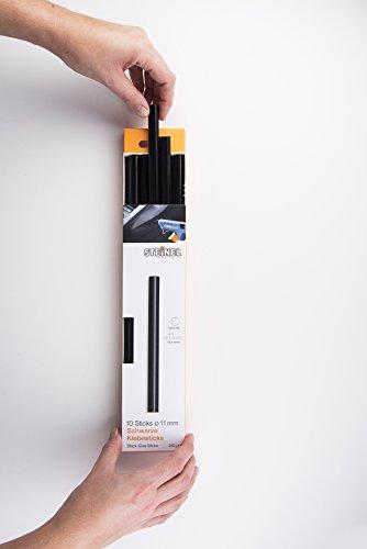_ Steinel Stick di colla nera con diametro di 11mm, cartucce di colla a caldo lunghe 250 mm, collante universale nero per materiali scuri, confezione da 250 g, 10 pezzi, 006792 lista dei prezzi