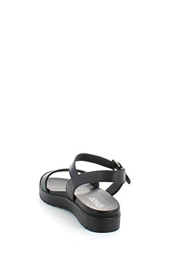 IGI&CO 58020 nero scarpe donna sandali glitter pelle fascia cinturino Nero
