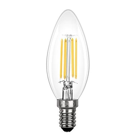 Aglaia 3.5W E14 LED Filament Candle Bulb, Candelabra Light Bulb Incandescent Equivalent 40W, 2700K Warm White, 430lm and 360° Beam Angle