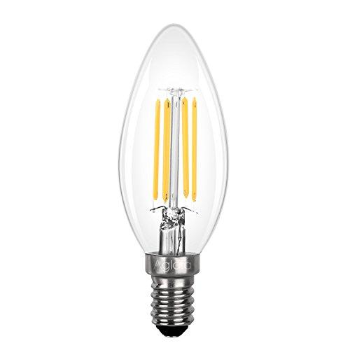 Aglaia Lampadine LED E14 a Candela, 3,5W Equivalente a 40W, 430 Lumen Bianco Caldo, Angolo del Fascio 360°. (LT-B11)