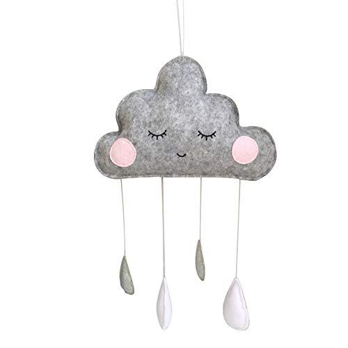 SpirWoRchlan Kinderzimmer Dekoration Wolken Regentropfen Hängende Deko Babyparty Baby Geburtstage (4#)