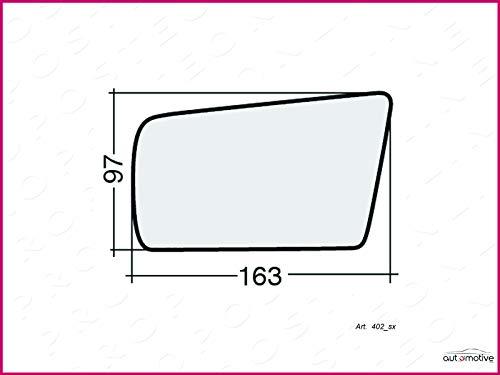 Left rear view mirror plate 10066, used for sale  Delivered anywhere in UK