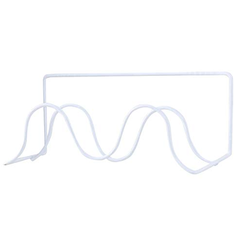 Hängenden Schuh Regal (Nosii Wand Hängende Streifen Schuhe Rack, Klebrige Home Schuhe Regal Metall Schuhe Kleiderbügel Schuhe Stroage für Home Organizer (Color : White))