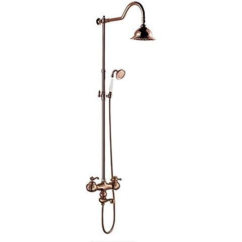 Baño General Retro baño ducha multifunción elevación toca Setcopper Estirado de alambre