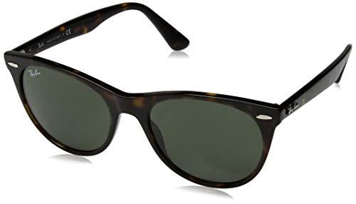 Ray-Ban Unisex-Erwachsene 0RB2185 Sonnenbrille, Braun (Havana), 55.0