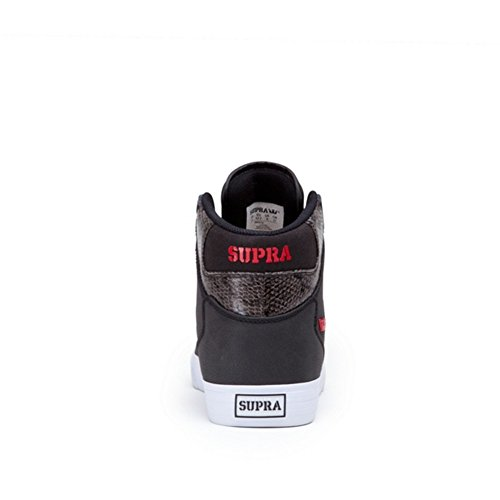 Supra - VAIDER, Sneakers unisex (Black/Red/White)