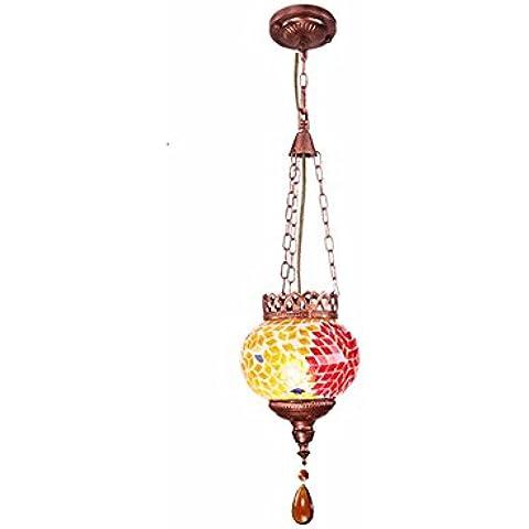 MSUXT lampade a sospensione Designer giallo personalizzazione lampadari di vetro 15*110cm Soggiorno Camera da letto Studio - Giallo Tensione In Oro Anello