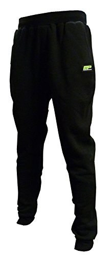 Muscle Pharm Herren Textilbekleidung Mens Fitted Jogger, Black, L, MPPNT475 (Wolle Hose Cuffed)