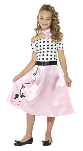 Smiffys 24668L 50er Jahre Pudel Mädchen Kostüm (Rosa Pudel Rock Kostüm)