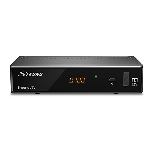 Strong SRT 8541 DVB-T2 Receiver (Full HD, HEVC H.265 Decoder, Dolby, Digitaler HD Empfänger, freenet TV, Antennen-Receiver, HDMI, LAN, SCART) Schwarz