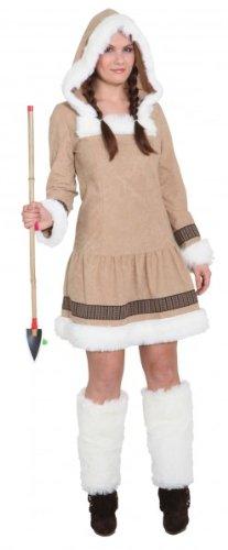 PARTY DISCOUNT ® Damen-Kostüm Eskimo Girl de Luxe, Gr. 40