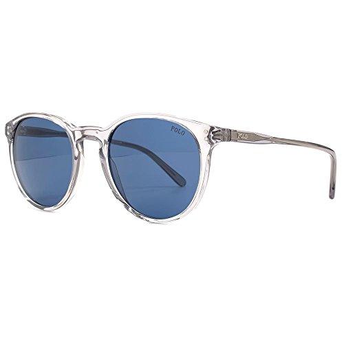 Polo ralph lauren trasparente grigio dark blue 50 millimetri ph4110 occhiali da sole rotondi