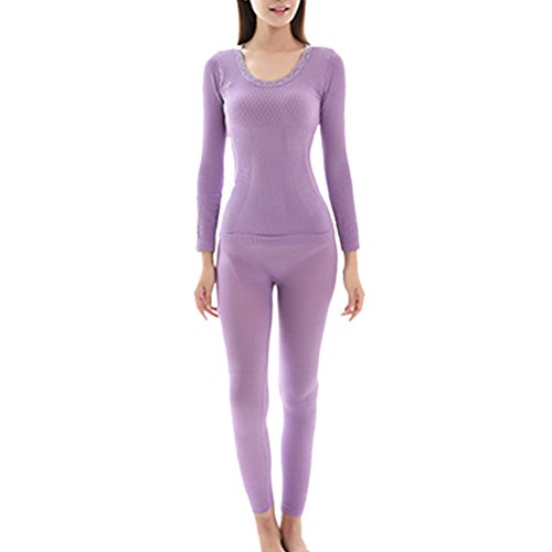 Zhhlaixing Hot Winter Ladies Slim Body-shaped Thermo-Unterwäsche Suits Warm Top and Pants (Pant Suits Winter Damen)