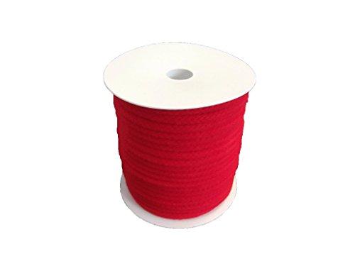 Corde en coton, 8mm, 40m, rouge, sur rouleau de Hummelt®
