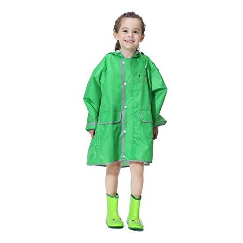 mama stadt Regencape Kinder Mädchen Jungen Niedliches Tierkarikatur Regenmantel Regenponcho mit Schulranzen Position 80-130CM
