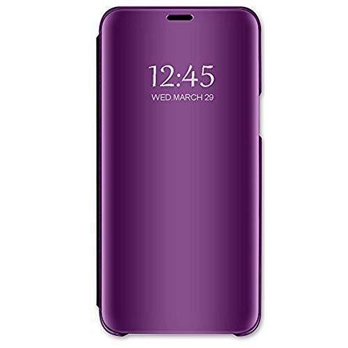 Hülle für iPhone XS XR iPhone XS Max Spiegel Schutzhülle Flip Handy iPhone XR Tasche mit Standfunktion Business Serie Hart Case Handyhülle Apple iPhone XS Max (Lila, iPhone XR)