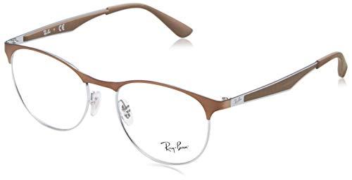 Rayban Unisex-Erwachsene Brillengestell RX6365, Braun (Light Brown Gloss), 53