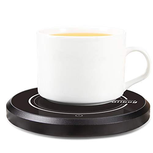 Zoiibuy Tassenwärmer, Wandefol Kaffeewärmer Multifunktional Kaffee Tee Tasse Wärmer Multifunktionale Becher-Wärmehaltungsplatte Getränkewärmer Glas 220V 18W für Büro, Haushalt mit 2 Modus Schalter