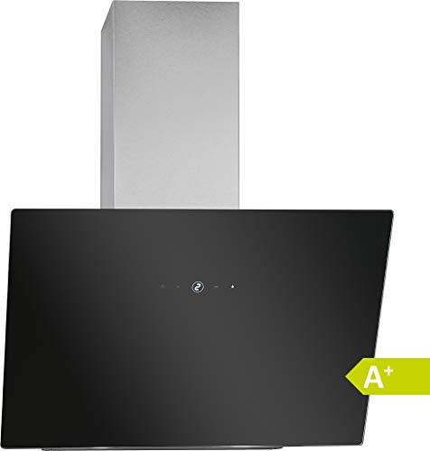 Bomann DU 7604 G Hotte verticale 60 cm de large/EEK A+/ Touch Control / 9 niveaux de puissance/éclairage LED / 522, 81 m3/h/noir/argenté