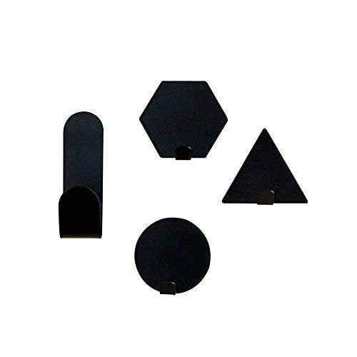 Diuspeed Kleine Hakenhalterung, Innovative Haken, Haken für Badezimmer, 3 Stück (schwarz)