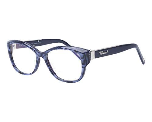 Chopard Brille (VCH-197-R 0V84) Acetate Kunststoff marmor stil blau - silber