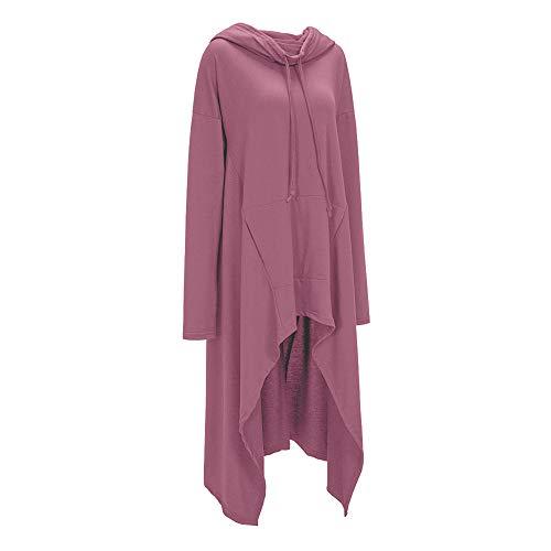SXZG Herbst und Winter Frauen Wollpullover Größe Mode einfarbig Lange Pullover Frauen Kapuzenpullover