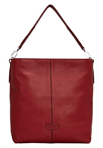 Liebeskind Berlin Damen Essential Hobo Medium Schultertasche, Rot (Italian Red), 13x34x30 cm -
