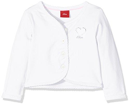 s.Oliver Baby-Mädchen Strickjacke 59.805.31.8080, Weiß (White 0100), 80