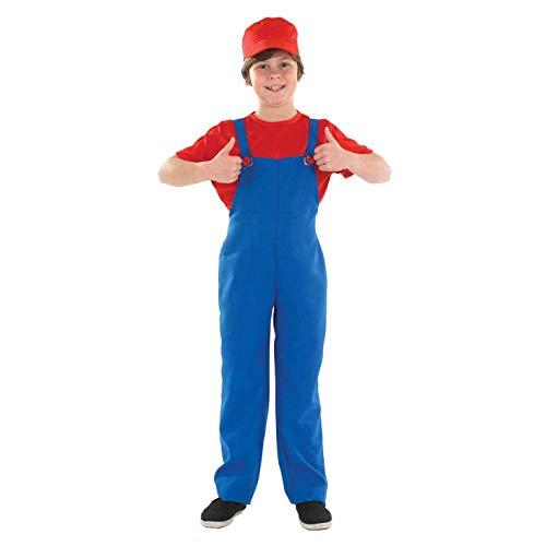Boys Toys Super Mario Bros Kostüm für Kinder, Größe M (6-8 Jahre) (2985-300M) (Mario Bros Kostüme Uk)