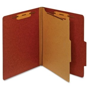 Classification Folder, 1 Partition, Letter, Red, Sold as 1 Each