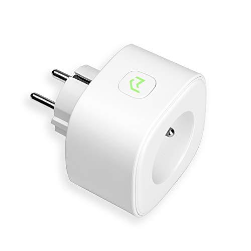 meross Presa Intelligente Wifi 16A 3680W Smart Plug Energy Monitor Protezione Sovraccarico, Funzione Timer, App Controllo Remoto, Compatibile con Amazon Alexa, Google Home e IFTTT, MSS310