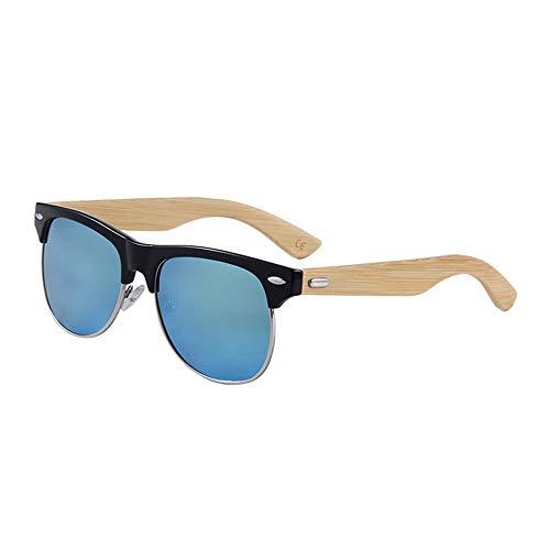UV400 polarisierte Bambus Holz Sonnenbrillen/handgefertigte Gläser für Mann und Frau beim Reisen, Outdoor-Sport und Aktivitäten/als Geschenke für Freunde und Verwandte (Farbe : Black+Gold)