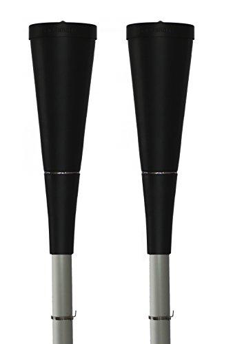 Swing fiaccole da giardino Set di 2/torchmaster–Barra in alluminio argento